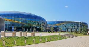 De arena van het ijspaleis in Alma Ata Alma Ata royalty-vrije stock afbeelding