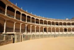 De arena van het stierenvechten in Ronda Royalty-vrije Stock Foto's