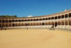 De arena van het stierenvechten in Ronda Stock Foto's