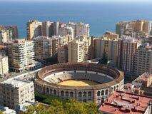De Arena van Malaga Stock Foto