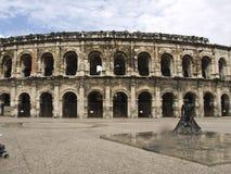 De Arena van Nîmes Stock Afbeeldingen