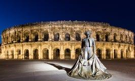 Arena van Nîmes Stock Afbeeldingen
