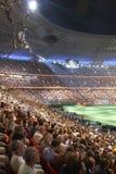 De arenastadion van Donbass, dat in Donetsk opent Royalty-vrije Stock Afbeeldingen