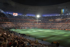 De arenastadion van Donbass, dat in Donetsk opent Stock Foto
