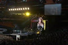 De arenastadion van Donbass, dat in Donetsk opent Royalty-vrije Stock Afbeelding