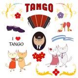 De Argentijnse elementen van het tangoontwerp Stock Afbeelding