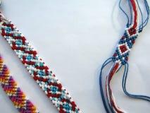 De armband geweven armband van de draad kleurrijke vriendschap Royalty-vrije Stock Afbeelding