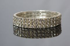De armband van de diamant Stock Foto's