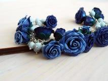 De armband van de polymeerklei met rozen Royalty-vrije Stock Afbeeldingen