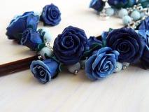 De armband van de polymeerklei met rozen Royalty-vrije Stock Fotografie