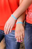 De armband van de vriendschap royalty-vrije stock foto's