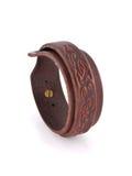 De armband van het leer Royalty-vrije Stock Foto