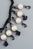 De armband van juwelen met kant Stock Afbeeldingen