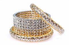 De armbanden van de diamant stock afbeeldingen