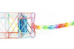 De armbanden van weefgetouwelastiekjes Royalty-vrije Stock Afbeelding