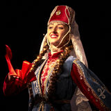 De Armeense danser van het de Dansensemble van de Staat Pedagogische Universitaire Royalty-vrije Stock Fotografie