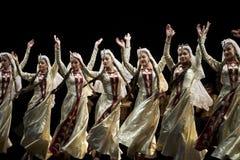 De Armeense dansers van het de Dansensemble van de Staat Pedagogische Universitaire Stock Foto's