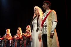 De Armeense dansers van het de Dansensemble van de Staat Pedagogische Universitaire Stock Afbeeldingen