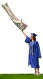 De armen behalen een diploma stock fotografie