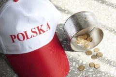 De armoedeellende en honger van Polen stock foto's