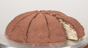 De aroma's van de Melaleucacake, chocoladecake, heerlijk stock foto's