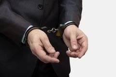 De arrestatie van een ambtenaar en een zakenman, op verdenking van corruptie en spionage 2 royalty-vrije stock fotografie