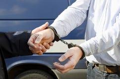 De arrestatie van een mens Royalty-vrije Stock Foto