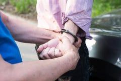 De arrestatie van een mens royalty-vrije stock fotografie