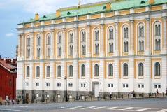 De Arsenaalkamer in Moskou het Kremlin De Plaats van de Erfenis van de Wereld van Unesco stock afbeelding
