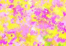 De artistieke abstracte achtergrond van de waterverfplons Royalty-vrije Stock Foto's