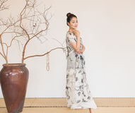 De artistieke conceptie van Zen Meditation-The van Zen-thee stock foto