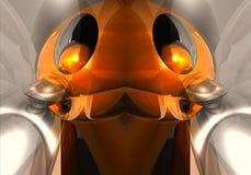 De artistieke 3d computer produceerde de unieke multicolored futuristische heldere abstracte fractals achtergrond van het robotku vector illustratie