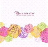 De artistieke kaart van de bloemgroet. Stock Foto's