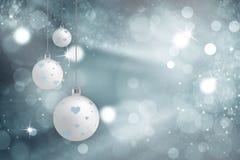 De artistieke Kerstmisbol plaatst bokeh achtergrond Royalty-vrije Stock Foto's