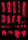 De artistieke vlekken van de inkt en van de verf Stock Afbeeldingen