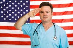 De arts groet de Vlag Stock Foto