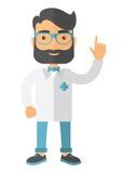 De arts kleedde zich in een witte laboratoriumlaag stock illustratie