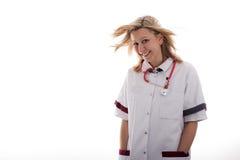 De arts met dient de zakken in Royalty-vrije Stock Foto
