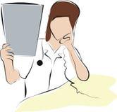 De arts raadpleegt over Röntgenstraal royalty-vrije illustratie