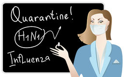 De arts waarschuwt over griep Stock Fotografie