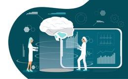 De artsen dragen digitale glazen royalty-vrije illustratie
