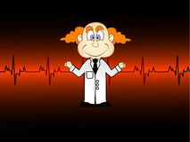De artsen met hart slaat royalty-vrije illustratie