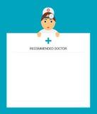 De artsenotolaryngoloog houdt het Blocnoteblad De raad van een arts Het voorschrift van een arts Modern vlak ontwerp Royalty-vrije Stock Foto