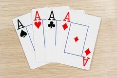 4 de as buenos - casino que juega tarjetas del póker fotos de archivo libres de regalías