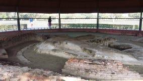 De as Stupa van Boedha door Licchavis, Vaisali wordt gebouwd die Stock Afbeelding