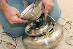 De assemblerende Motor van de Ventilator Stock Foto