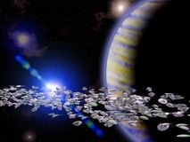 De asteroïde van de riem royalty-vrije illustratie