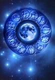 De astrologie van de maan Stock Afbeelding