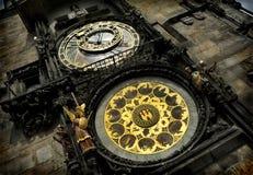 De astrologische klok van Praag Stock Foto