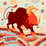 De astrologische Stier van het dierenriemteken Een deel van een reeks horoscooptekens Stock Fotografie